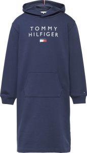 Tommy Hilfiger Childrenswear Tyttöjen Hupparimekko GRAPHIC HOODIE SWEAT DRESS Tummansininen