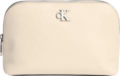 Calvin Klein Accessories Naisten Meikkipussi  MINIMAL MONOGRAM MAKE UP BAG Luonnonvalkoinen