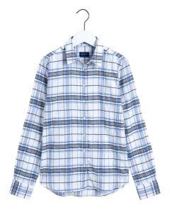 gant-naisten-ruutupaita-check-twill-shirt-valkopohjainen-kuosi-1