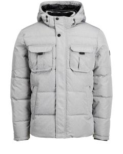 Jack and Jones Miesten Talvitakki, New Will Jacket Vaaleanharmaa