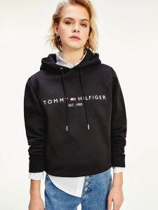 tommy-hilfiger-naisten-collegehuppari-ess-hilfiger-hoodie-ls-musta-1