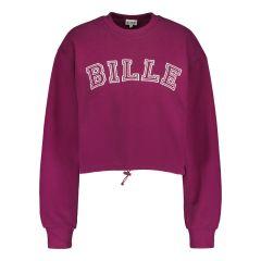 billebeino-naisten-collegepaita-cozy-crop-sweatshirt-luumunpunainen-1