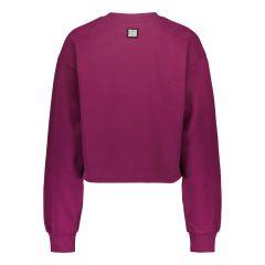 billebeino-naisten-collegepaita-cozy-crop-sweatshirt-luumunpunainen-2