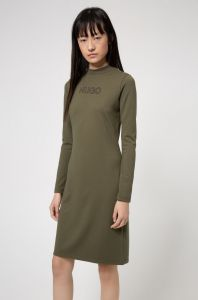 boss-woman-naisten-mekko-dassy-dress-armeijanvihrea-1