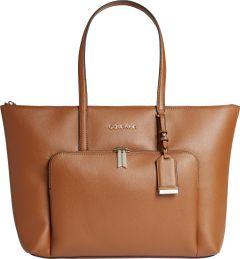 calvin-klein-accessories-naisten-laukku-ck-must-shopper-lg-w-pocket-konjakinruskea-1