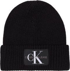 calvin-klein-accessories-naisten-pipo-ad-ck-monogram-beanie-musta-1