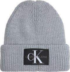 calvin-klein-accessories-naisten-pipo-ad-ck-monogram-beanie-vaaleanharmaa-1