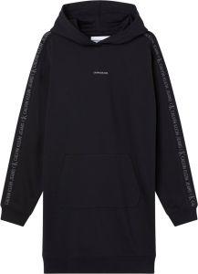 calvin-klein-jeans-naisten-hupparimekko-ckj-logo-trim-hoodie-dress-musta-1