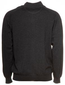 casa-moda-miesten-neuletakki-pima-cotton-tummanharmaa-2