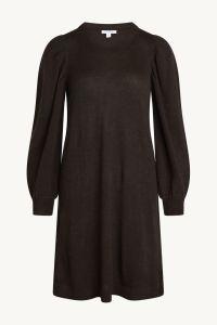 claire-naisten-neulemekko-deeba-dress-100-merino-tummanruskea-2