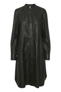 culture-naisten-nahkamekko-alina-leather-dress-musta-1