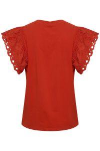 culture-naisten-pusero-tagea-t-shirt-kirkkaanpunainen-2