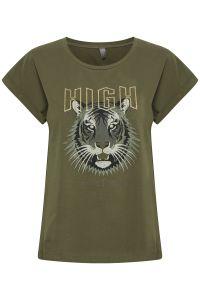 culture-naisten-t-paita-gea-t-shirt-armeijanvihrea-1