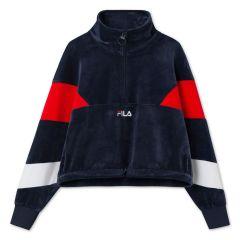 fila-naisten-paita-bellini-cropped-velvet-half-zip-tummansininen-1