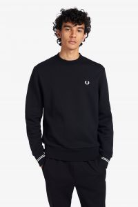 fred-perry-college-crew-neck-sweat-musta-1