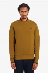 fred-perry-college-crew-neck-sweat-sinapinkeltainen-1