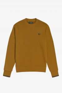 fred-perry-college-crew-neck-sweat-sinapinkeltainen-2