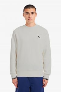 fred-perry-college-crew-neck-sweat-valkoinen-1