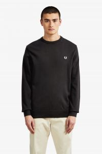 fred-perry-miesten-neule-classic-crew-neck-musta-1