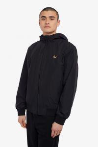 fred-perry-miesten-takki-hooded-brentham-jacket-musta-1