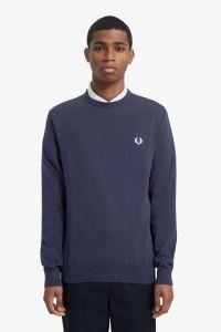 fred-perry-neule-classic-cotton-jumper-tummansininen-1