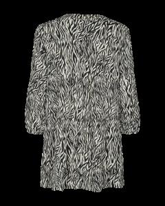freequent-naisten-trikootunika-sun-v-tu-placket-zebri-mustavalkoinen-2