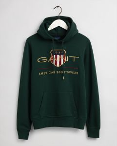 gant-miesten-huppari-archive-shield-hoodie-armeijanvihrea-1