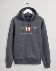 gant-miesten-huppari-archive-shield-hoodie-tummanharmaa-1