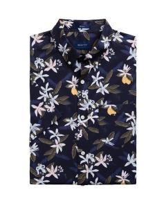 gant-miesten-lyhythihainen-kauluspaita-lemon-flower-print-sininen-kuosi-1
