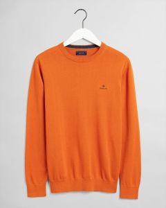 gant-miesten-neule-classic-cotton-c-neck-oranssi-1
