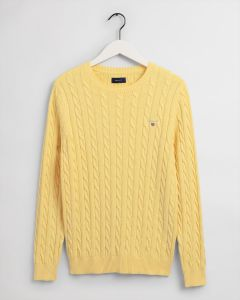 gant-miesten-neule-cotton-cable-kirkkaankeltainen-1