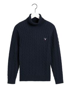 gant-miesten-neule-cotton-cable-turttle-neck-tummansininen-1