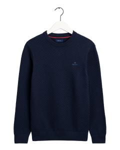 gant-miesten-neule-cotton-texture-tummansininen-1