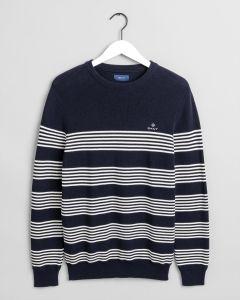 gant-miesten-neulepaita-striped-ribbed-c-neck-raidallinen-sininen-1