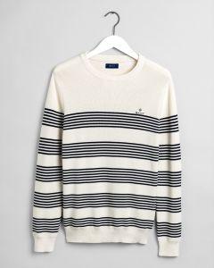 gant-miesten-neulepaita-striped-ribbed-c-neck-raidallinen-valkoinen-1