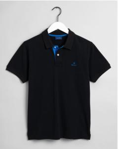 gant-miesten-pikeepaita-contrast-collar-musta-1