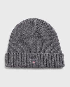 gant-miesten-pipo-wool-lined-beanie-tummanharmaa-1