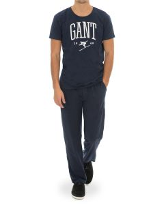 gant-miesten-pyjama-pj-set-jersey-and-holiday-t-tummansininen-1