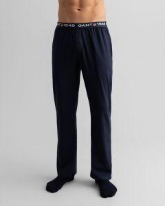 gant-miesten-pyjamahousut-retro-shield-jersey-pants-tummansininen-1