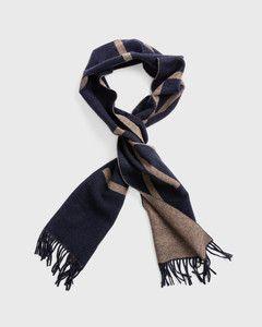 gant-miesten-villahuivi-logo-wool-sininen-kuosi-1