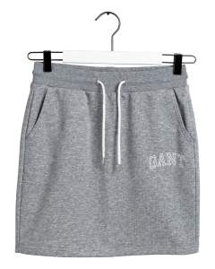 gant-naisten-collegehame-arch-logo-sweat-skirt-vaaleanharmaa-1