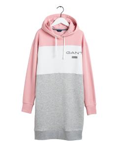 gant-naisten-collegemekko-stripe-hoodie-dress-vaaleanpunainen-kuosi-1