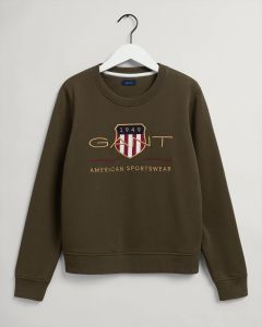 gant-naisten-collegepaita-aechive-shield-c-neck-sweat-armeijanvihrea-1