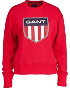 gant-naisten-collegepaita-gant-retro-shield-c-neck-sweat-kirkkaanpunainen-1