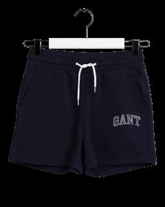 gant-naisten-collegeshortsit-arch-logo-sweat-shorts-tummansininen-1