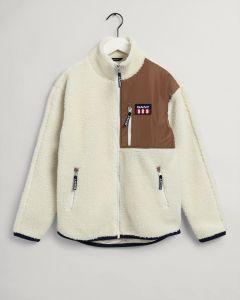 gant-naisten-fleecetakki-retro-logo-fleece-jacket-luonnonvalkoinen-1