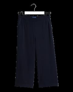 gant-naisten-housut-fluid-culotte-pant-tummansininen-1