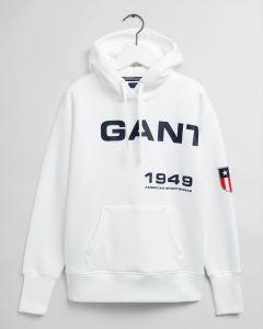 gant-naisten-huppari-retro-shield-sweat-hoodie-valkoinen-1