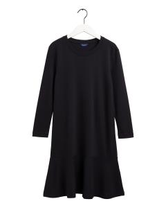 gant-naisten-mekko-flounce-detail-dress-musta-1