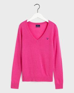 gant-naisten-neulepusero-extrafine-lambswool-v-neck-pinkki-1